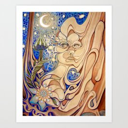 Into The Woodwork Art Print