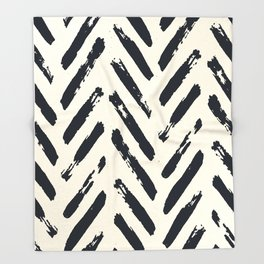 Retro Chevron Pattern 02 Throw Blanket
