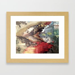 Distorted Framed Art Print