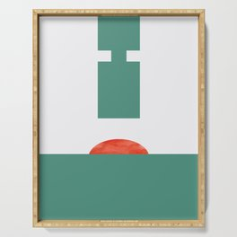 Hammer Press #illustration #geometrical #art Serving Tray