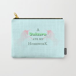 A Unicorn Ate My Homework Carry-All Pouch