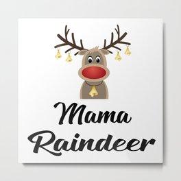 mama raindeer Metal Print