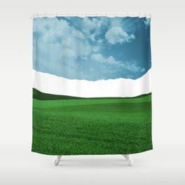 Lost Horizon Vertical2 Shower Curtain
