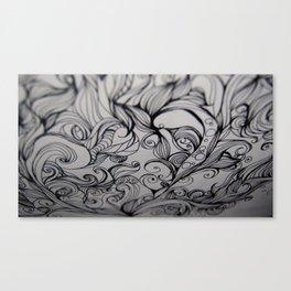 Flow - Ink Canvas Print