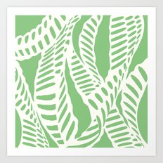 Al Peas: Ivory on Sage/Green Art Print