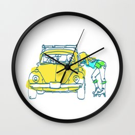 sk8ter girl Line Art Poster | Print | Art | Painting Wall Clock
