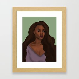 Leah African American Woman Framed Art Print