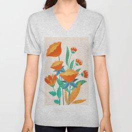 Summer Flowers I Unisex V-Neck