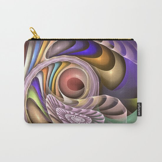 In Motion, colourful fractal abstract Carry-All Pouch