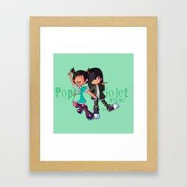Poppy and Violet Framed Art Print