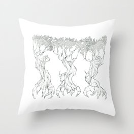 Three Free Trees Throw Pillow