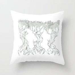 Three Free Trees Throw Pillow