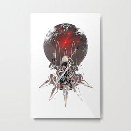 2B Nier Automata Yohra battle Metal Print