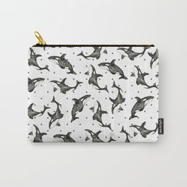 Watercolor of Freedom Whale Carry-All Pouch