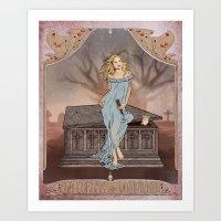 buffy Art Prints featuring Boticelli/Art Nouveau Buffy by Nana Leonti