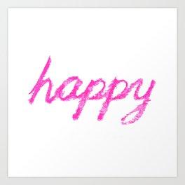 happy pink Art Print