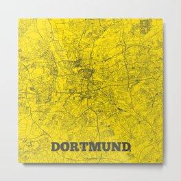 Dortmund Streets Map Metal Print