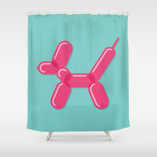 Balloon Dog Shower Curtain