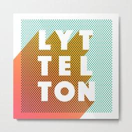 Lyttelton Dots Metal Print
