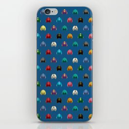 Cool Colorful Megaman Helmet Pattern iPhone Skin