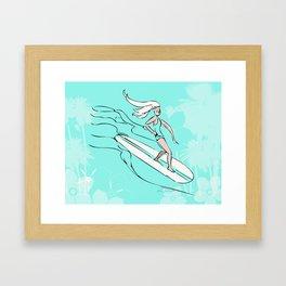 Lady Slider Framed Art Print