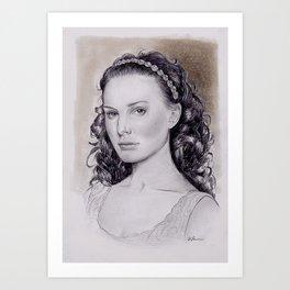 Natalie Portman as Padme Amidala from Star Wars Art Print