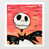 jack skellington Art Prints featuring Jack Skellington by MSG Imaging