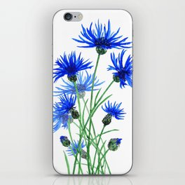 blue cornflower iPhone Skin
