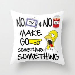 No Beer & No TV Throw Pillow