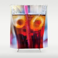 coke Shower Curtains featuring Coke and Ice by davehare