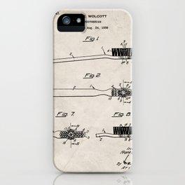 Toothbrush Patent - Bathroom Art - Antique iPhone Case