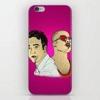 brad pitt iPhone & iPod Skins featuring Tyler Durden's... Ed Norton and Brad Pitt by Matty723