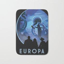 NASA Retro Space Travel Poster #4 - Europa Bath Mat
