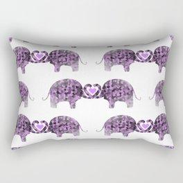 Romance And Elephants Rectangular Pillow