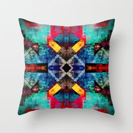 Bright southwestern pattern design Throw Pillow