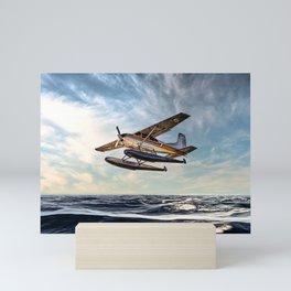 Seaplane Sunrise Mini Art Print