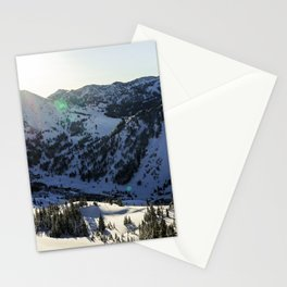 light over alta Stationery Cards