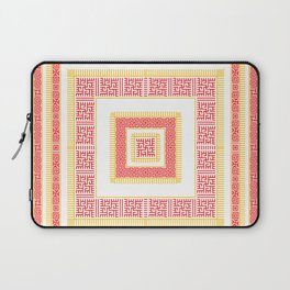 Slavic Square Mandala - Odolen Trava - Symbol Laptop Sleeve