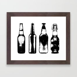 Vintage Beer Bottles Framed Art Print