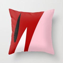 Abstract Flower Red #red #pink #artdeco #fresh #spring #minimal #art #design #kirovair #buyart #deco Throw Pillow