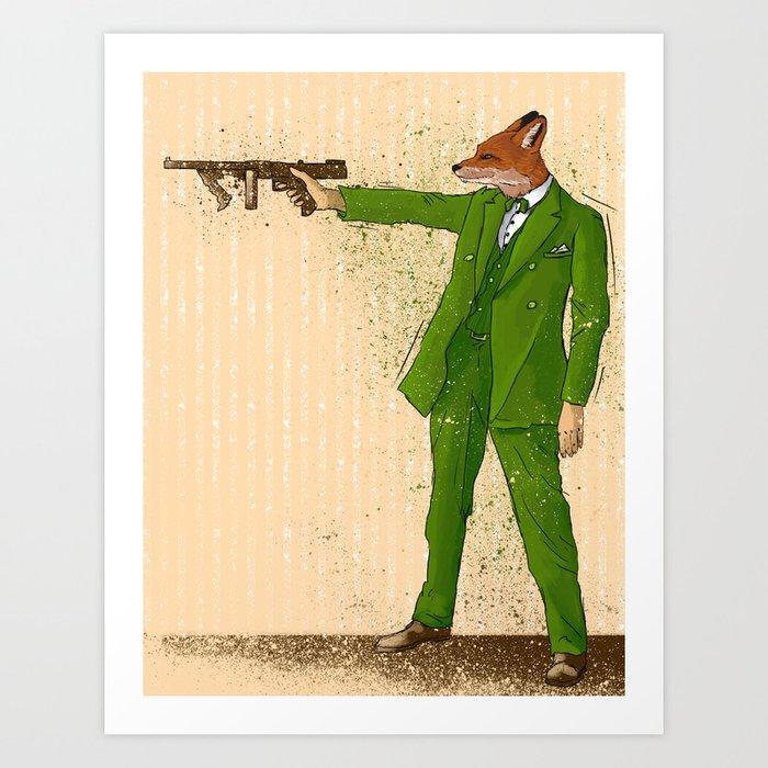Gangster Fox Art Print by ichorteeth   Society6