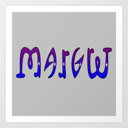 Margret (Ambigram) Namendreher Art Print