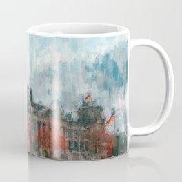 Bundestag, Reichstag Berlin Mitte -  impressionism style print Illustration  / abstract landmark Coffee Mug