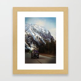 FOREST & MOUNTAINS IN THE KOOTENAYS Framed Art Print