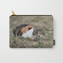 Multicolor cat is playing hide and seek Carry-All Pouch