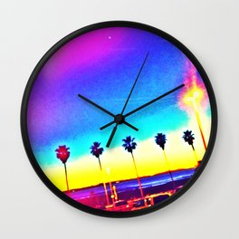 Main Street Dusk Wall Clock