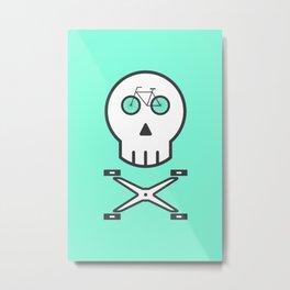 Rider Skull Metal Print