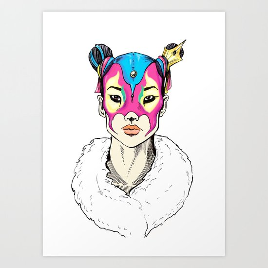 Asian Superheroine Art Print