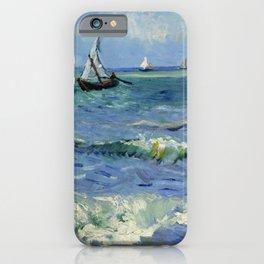"""Vincent Van Gogh """"The Sea at Les Saintes-Maries-de-la-Mer"""" iPhone Case"""