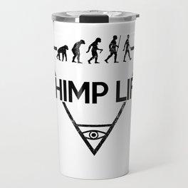 Chimp Life (Black) Travel Mug
